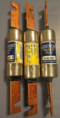 Lot of 3 Bussmann Low-Peak Dual Element Time-Delay Fuse LPS-RK-100SP NWOB