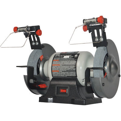 New PCXB515BG PORTER CABLE 6 inch 2.1 Amp Bench Grinder with Built-in Light