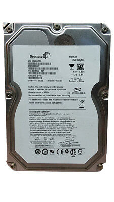 "Lot of 2 Seagate  SV35.3 ST37503300SV 750GB 3.5"" SATA II Desktop Hard Drive"