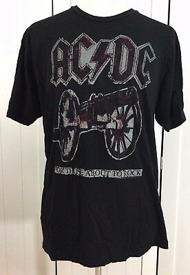 ACDC FOR THOSE ABOUT TO ROCK Men's Black Short Sleeve T-Shirt Size X-Large