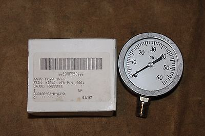 Pressure Gauge 0 - 60Psi.  Nsn 6685007280666 New