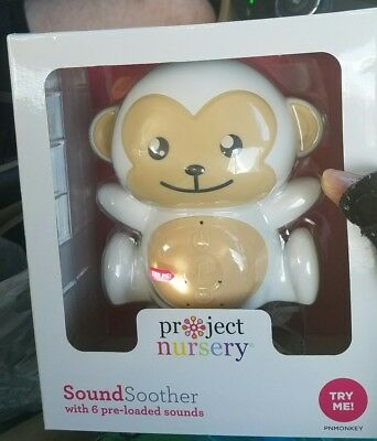 Project Nursery adorable monkey 6 sound soother