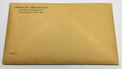 1962 U.s. Mint Proof Set - Envelope Sealed & Unopened