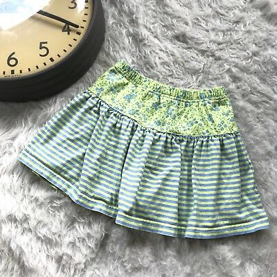 Hanna Andersson Skort Skirt Size 110 6 Summer Play Striped Hip Play Casual D14
