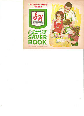 One Book--S & H Green Stamps Quick Saver Book.  Unused  Excellent Condition