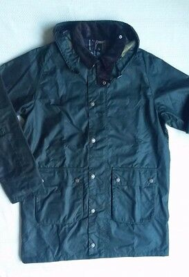 Barbour Leighton Men's  Waxed Cotton  Jacket - Navy, Sage, Size Large