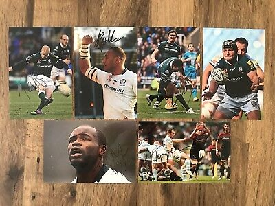 LONDON IRISH RUGBY - Hand Signed 6x4 Picture/Photos x6 - Tagicakibau Ojo Homer
