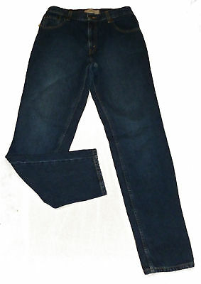 LEVI STRAUSS LEVIS Jeans Womens Blue Relaxed Fit 10 Misses x 32 1/2 100% Cotton