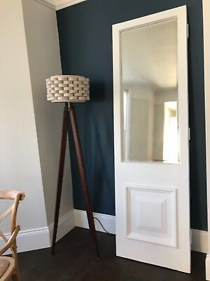 Large Victorian Mirrored Door Wood Reclaimed Period Old Antique Salvage Pine