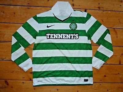 large CELTIC FC football shirt 2010 LS Home shirt Nike Soccer Jersey