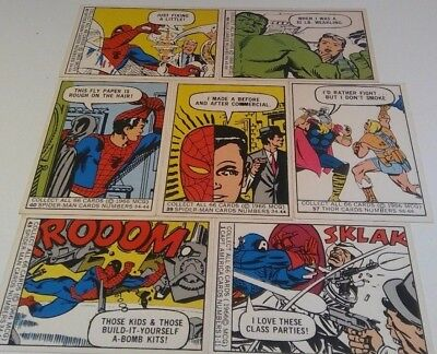 1966 Mcg Marvel Card Lot Of 17 Spiderman Thor Hulk Iron Man Captain America Nm
