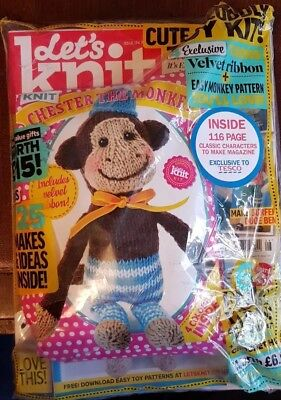 Let's Knit Magazine - Issue 134 - August 2018 +116 Page Free Mag + Chester Monky
