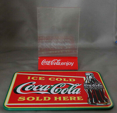 VINTAGE COCA COLA Coke Lucite Restaurant Table Counter Top Sign - Restaurant table top sign holders