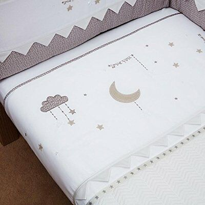 Silver Cross Cot and Cot Bed Quilt, To The Moon And Back