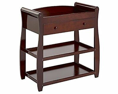 Babymore Sleigh Changer with Drawer Brown