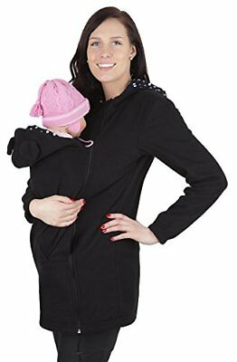 Mija - Maternity Polar warm fleece Hoodie  Pullover for two  for Baby Carriers