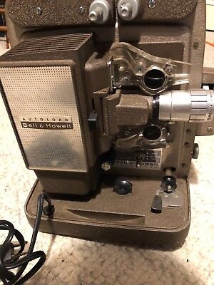 antique/vintage bell and howell autoload model 245 8mm film projector (working)