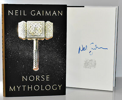 ✎✎SIGNED✎✎   Norse Mythology AUTOGRAPHED by Neil Gaiman (Dinged Copy) HC