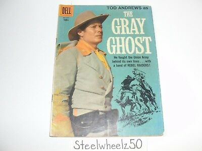 Four Color #911 Gray Ghost Comic Dell 1958 TV Show Tod Andrews Photo John Mosby