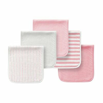 5 Pack Baby Burp Cloths Bibs Cotton Towels Triple Layer Soft Absorbent Burping R