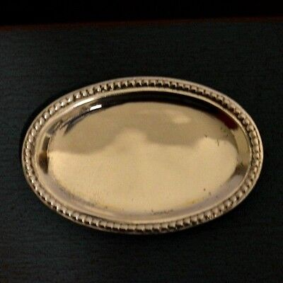 Miniature Sterling Silver Tray Dollhouse 1:12 Artist Made Peter Acquisto