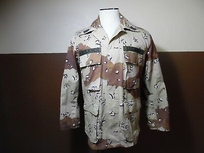 VTG US Army Combat Desert Chocolate Chip Camo Brown Coat Medium Regular
