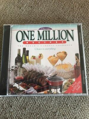 New One Million Recipes CD-ROM year 2002 for Windows 95 and later