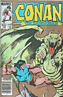 Conan The Barbarian Original Series #166  John Buscema  Marvel  1985  Nice!!!
