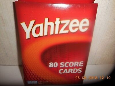 Yahtzee 80 Score Cards By Parker Brothers
