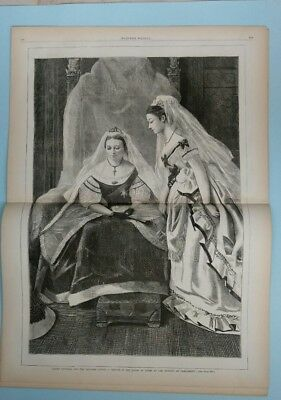 Harper's Weekly 4/1/1871  British Royalty  Queen Victoria opens Parliament