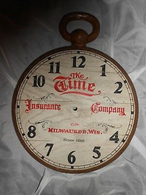 the time insurance company of milwaukee wis.  VINTAGE PLASTIC CLOCK FACE