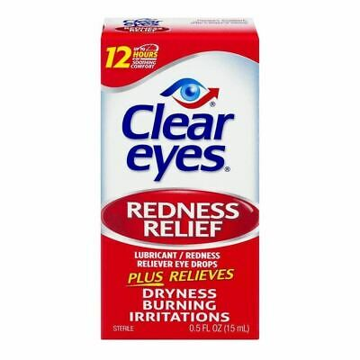 Exp (2 Pack) CLEAR EYES - Redness Relief Eye Drops - 0.5 fl. oz. Exp 9/18