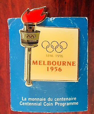 MELBOURNE 1956 OLYMPIC Badge / Pin x Centennial Coin Program