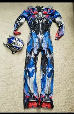 Boys 7/8 M Halloween Costume Built in Muscles transformers
