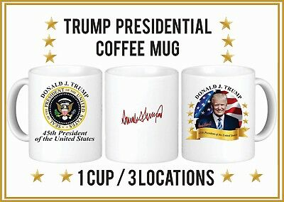 2 Donald Trump 45Th Presidential Coffee Cups - Full Color Mugs  - Free Shipping