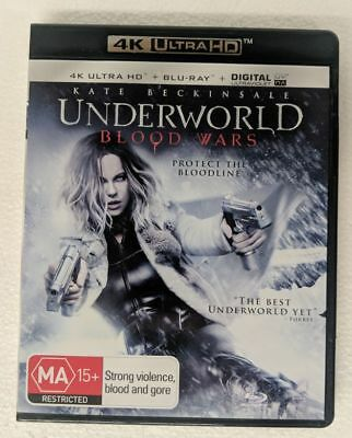 UNDERWORLD: BLOOD WARS - 4K ULTRA HD + Blu-ray ALL Region oz seller DVD