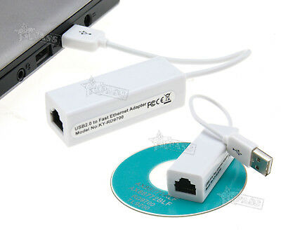 USB 2.0 To RJ45 10/100Mbps LAN Ethernet Network Adapter Dongle for MacBook