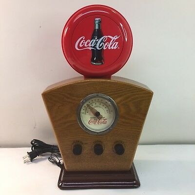 Coca-Cola AM/FM Radio With Lighted Globe And Dial Works