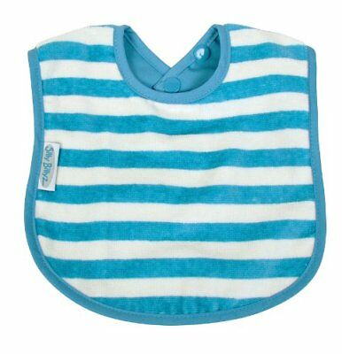 Silly Billyz - Organic Plain Bib - Stripes Blue