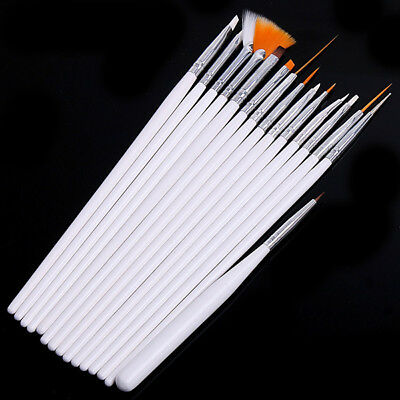 15pcs White Brush Pen For BJD AOD AS OD SD MSD doll Make up DIY face up tool
