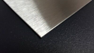 Stainless Steel Sheet Metal 304 #4 Brushed Finish 16 Gauge 12 in. x 6 in.