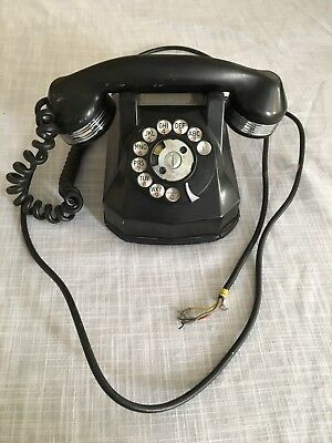 Vintage Automatic Electric 40 Art Deco Phone with Chrome handset
