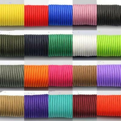 25 Colors! 50-100FT One Stand 2mm Paracord Parachute Cord Tent Lanyard Rope UK