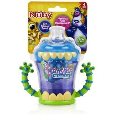 NUBY-  iMonster No Spill Cup -  Spout is Designed for Healthy Oral Development
