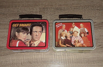 Petticoat Junction and Get Smart TV Show Mini Tin Metal Lunch Box Lot 1999