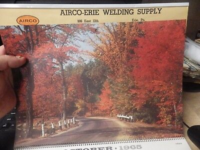 Vintage 1965 Airco Welding Company Advertisng Calendar 1965 Great Winter Erie Pa
