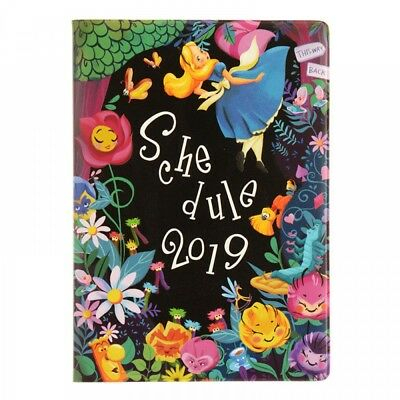 New Disney Store Japan Diary / Schedule Book 2019 A6 Alice in Wonderland F/S