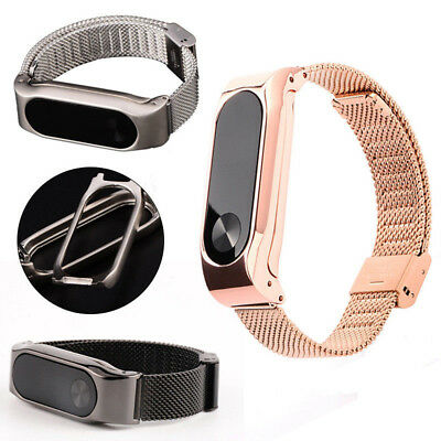 For Xiaomi Mi Band 2 Metal Wrist Smart Bracelet Stainless Steel Watch Band Strap
