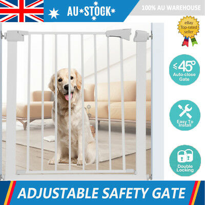 78cm Tall Baby Safety Security Gate Adjustable Pet Dog Stair Barrier Cat Door