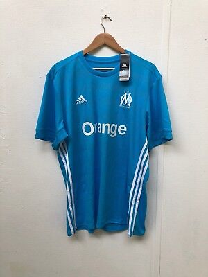 adidas Mens Marseille FC 17/18 Away Shirt - Various Sizes + Players - Blue - New